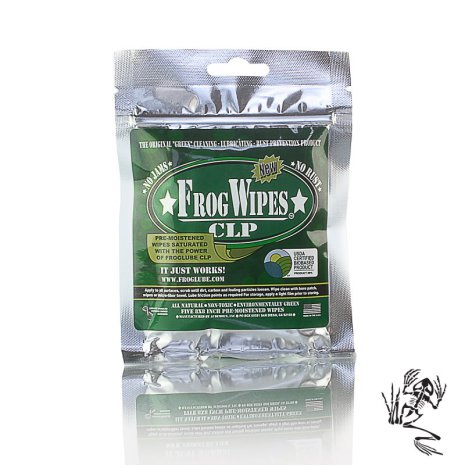 FrogLube CLP Frogwipes, 5-PACK