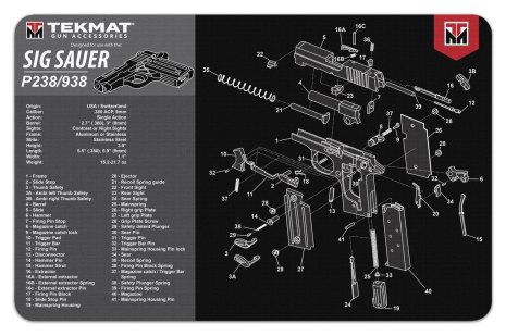 TekMat Sig Sauer P238/938